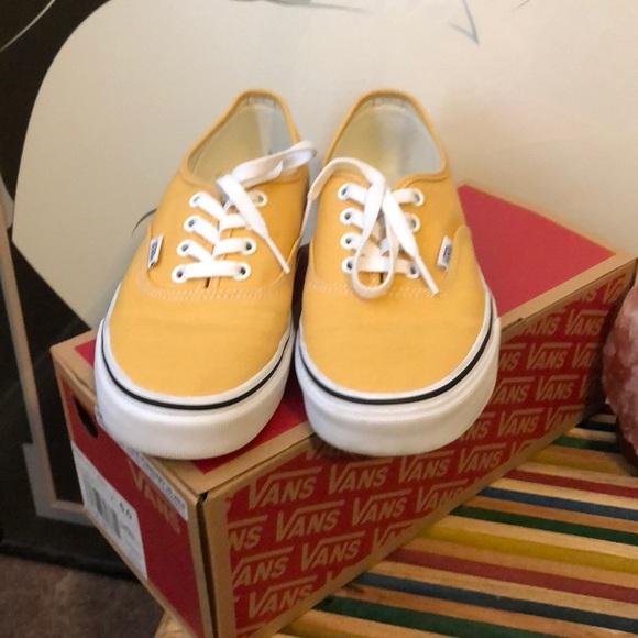 vans mustard shoes